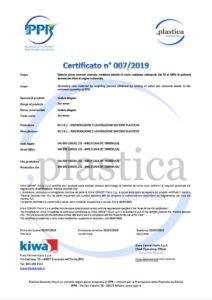 Certificato IPPR BS RIGENERAZIONE E LAVORAZIONE MATERIE PLASTICHE