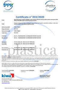 Certificato PSV BS 033 RD Imballaggi